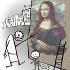 Мона Лиза и рисунок ребёнка, Сергеев Александр