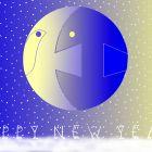 Новогодняя открытка с птицей и рыбой 2, Богорад Виктор