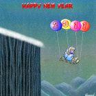 Новогодняя открытка с мальчиком на санках, Богорад Виктор