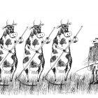 Коровы с косами и дрессировщик, Богорад Виктор