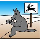 волк поджидает оленя, Копельницкий Игорь
