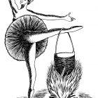 Балерина у костра, Гурский Аркадий