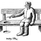 рыбак на скамье, Гурский Аркадий