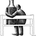 бутылка на скамейке, Гурский Аркадий