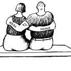 влюблённые на скамейке, Гурский Аркадий