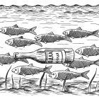 рыбы и бутылка, Гурский Аркадий