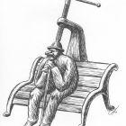 старик на скамье, Гурский Аркадий