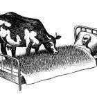 корова у постели, Гурский Аркадий