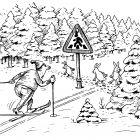 Переход через лыжню, Дубинин Валентин