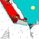 На лыжне, Дубовский Александр