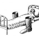сапоги у постели, Гурский Аркадий
