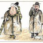 """Иллюстрация из неизданной книги """"Человек и шарф"""", Мельник Леонид"""