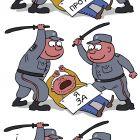 Полиция и демонстрант, Ёлкин Сергей
