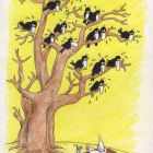 Белая ворона лежит на полотенце, Кононов Дмитрий