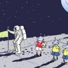 Угловой флаг на Луне, Александров Василий