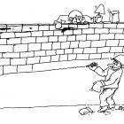 каменщик рисует кирпичи , Кононов Дмитрий