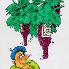виноград и мужчина, Кононов Дмитрий