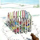 лыжники на природе зимой, Ненашев Владимир