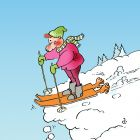 Лыжи с руками, Александров Василий