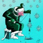 снежинка - скелет рыбы, Локтев Олег