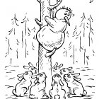 Снеговик и зайцы, Бондаренко Дмитрий