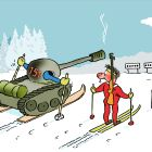 Биатлонист в танке, Александров Василий