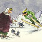 Старушка и птицы, Семеренко Владимир