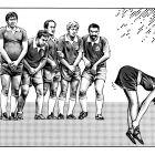 Футболисты и барышня, Бондаренко Дмитрий