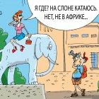 туристы на слоне, Кокарев Сергей