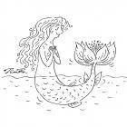Русалка с цветком, Бондаренко Дмитрий