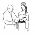 девушка с хлеб-солью, Гурский Аркадий