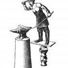 кузнец у наковальни, Гурский Аркадий