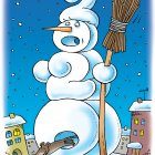 Новогодний снеговик, Смагин Максим