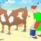 Бурая корова с белыми пятнами, Кинчаров Николай