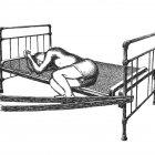 спящий на кровати, Гурский Аркадий
